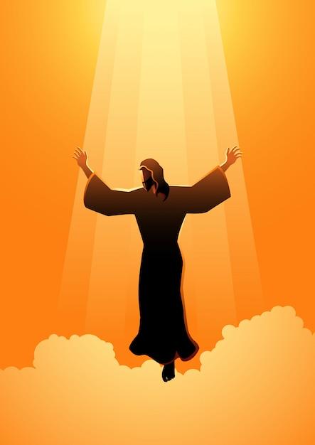 イエス・キリストの昇天の日 Premiumベクター