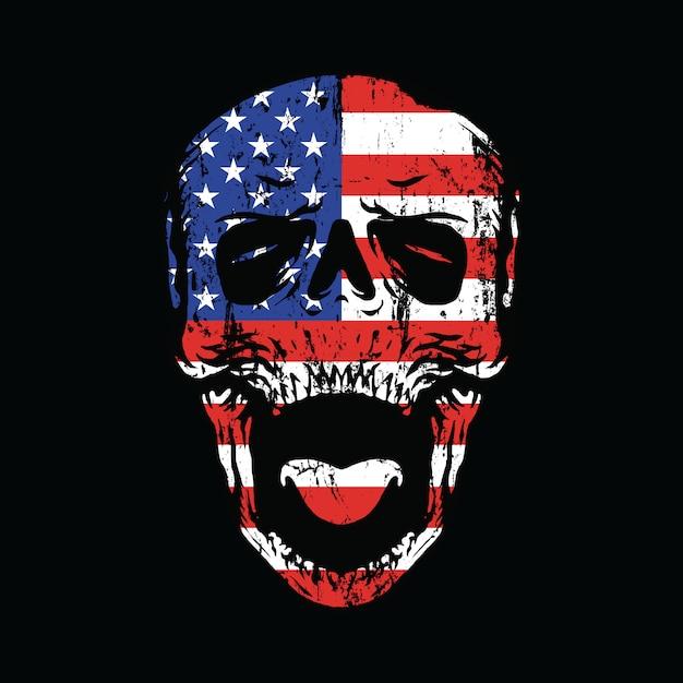 Америка национализм до конца графика иллюстрация искусство дизайн футболки Premium векторы