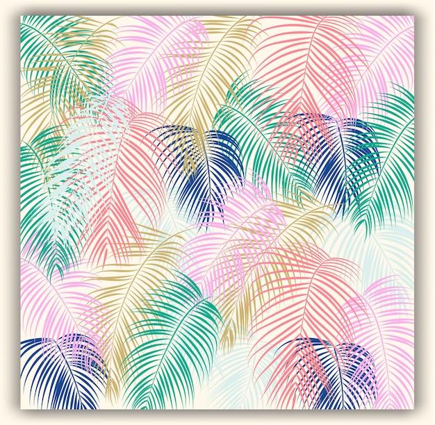 熱帯の花のシームレスなベクトルパターンの背景。 Premiumベクター