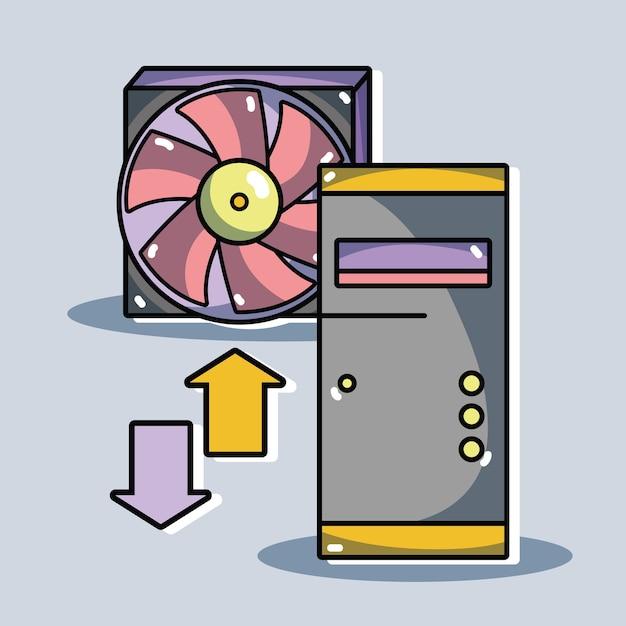 Информационный сервер центра данных безопасности Premium векторы