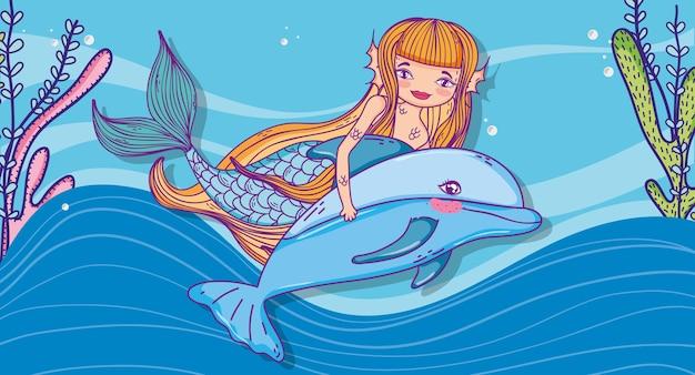картинки русалочки с дельфином так как