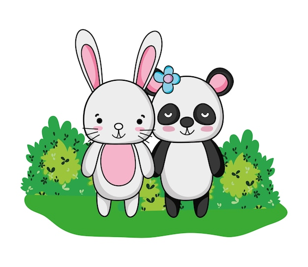 расположен панда и заяц вместе картинки ввиду самая