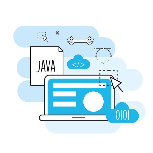 ウェブサイトのプロセス情報からプログラミング技術 Premiumベクター