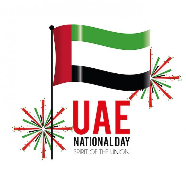 国民の日を祝うための火の玉の旗 Premiumベクター