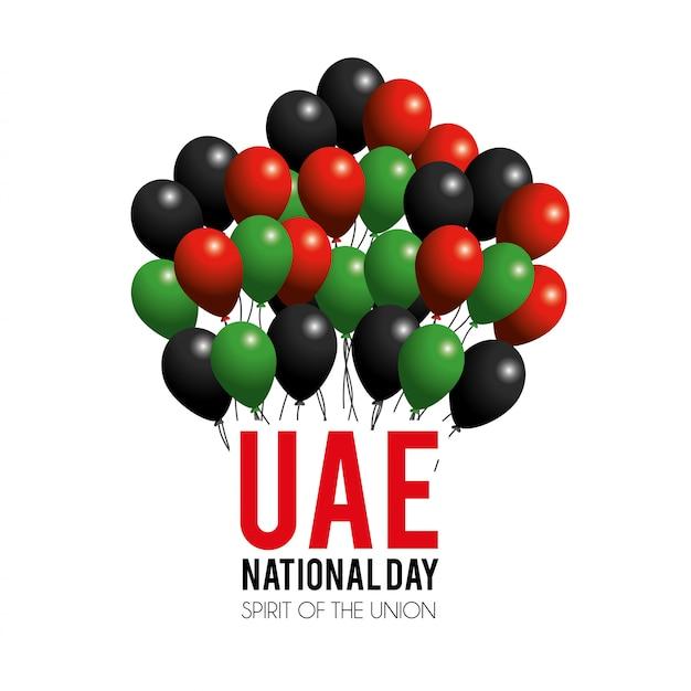 Национальный национальный день с воздушными шарами на патриотический праздник Premium векторы
