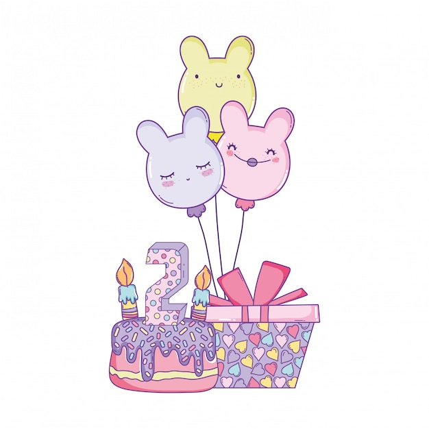 子供の誕生日の漫画 Premiumベクター