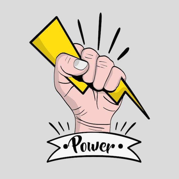 強い力の手の抗議革命 Premiumベクター