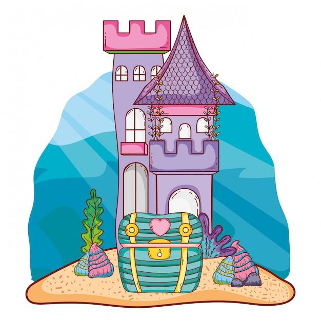 海底城の漫画 Premiumベクター