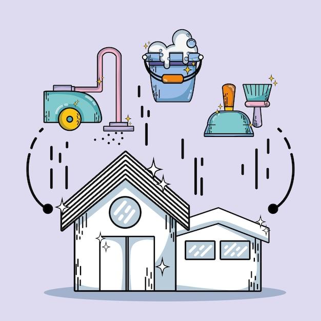 家事掃除の国内サービス Premiumベクター