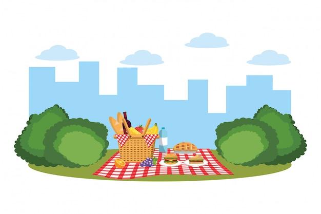 Пикник в парке Premium векторы