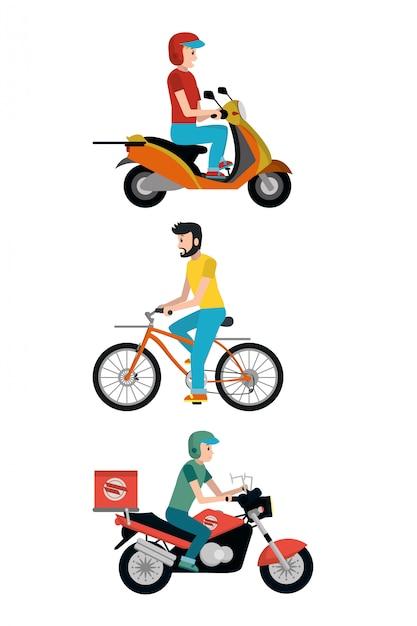 Служба доставки мультфильмов Premium векторы
