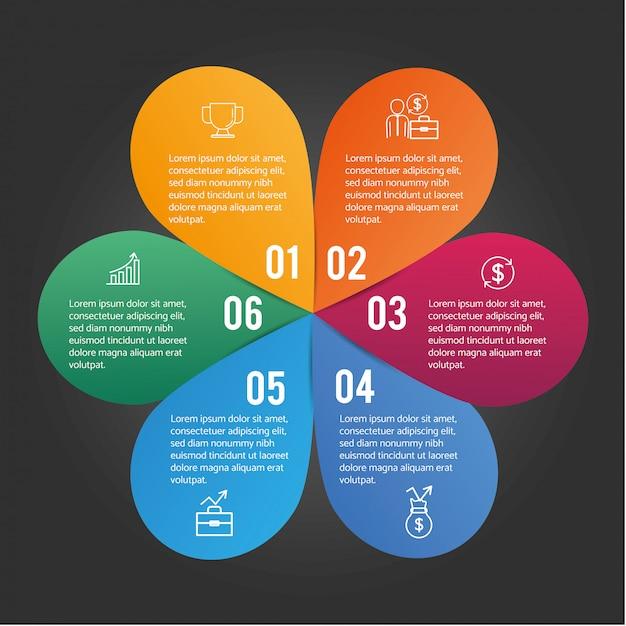 ビジネス図とインフォグラフィックデータ情報 Premiumベクター
