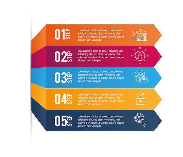グラフィックビジネス情報を含むデータインフォグラフィック Premiumベクター