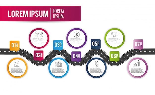 インフォグラフィックファイナンス事業戦略情報 Premiumベクター