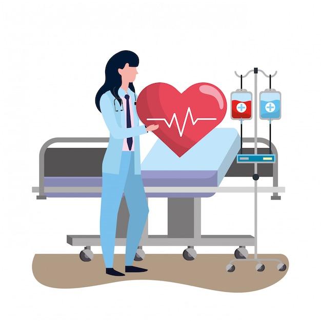 Здравоохранение медицинский мультфильм Premium векторы