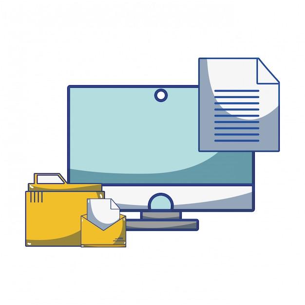 テクノロジーコンピューティング漫画 Premiumベクター