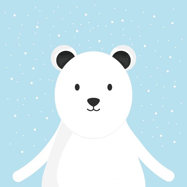 かわいいクマの極愛らしいキャラクター Premiumベクター