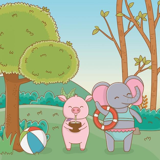 Картинки слон и свинья