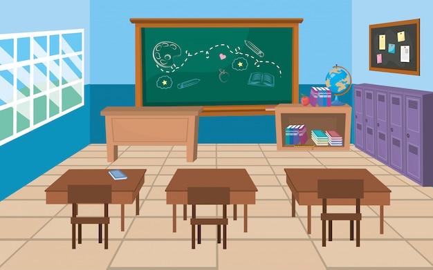 Классная комната школы Бесплатные векторы