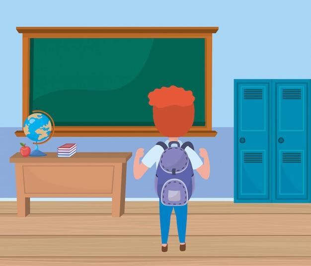 Мальчик ребенок в школе Бесплатные векторы