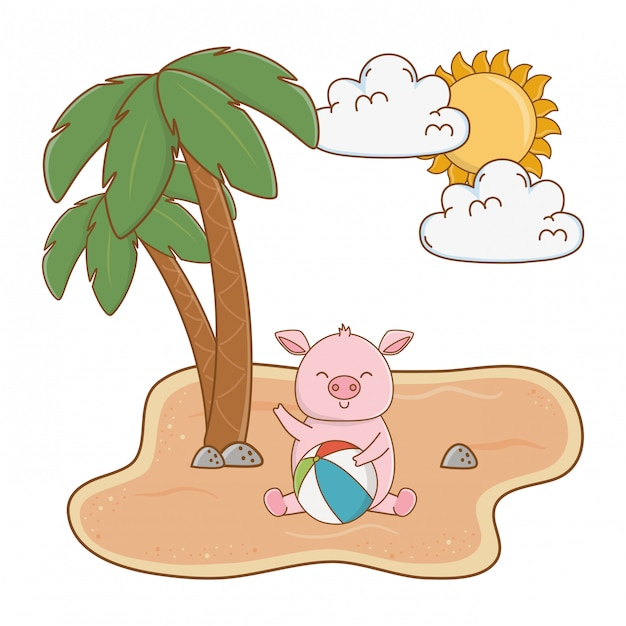 Летние каникулы отдыхают мультфильм Бесплатные векторы