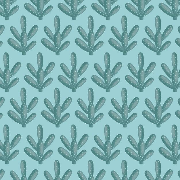 エキゾチックサボテンの植物の自然なパターン 無料ベクター