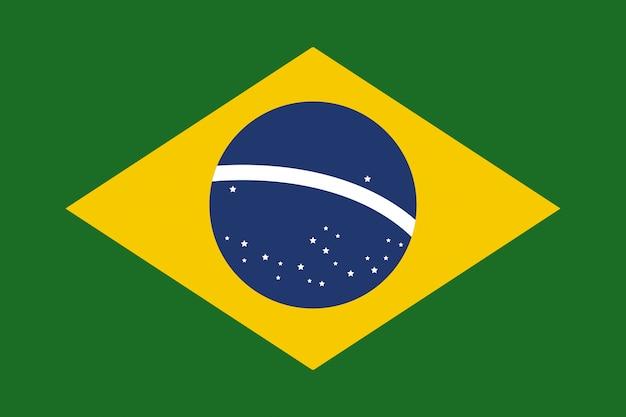 ブラジル国旗フラットベクトルベクトル図 Premiumベクター
