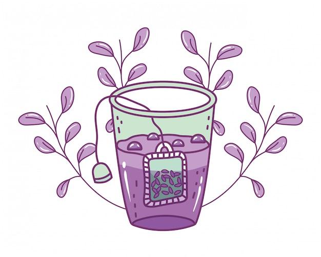 孤立した茶ガラスの図 Premiumベクター