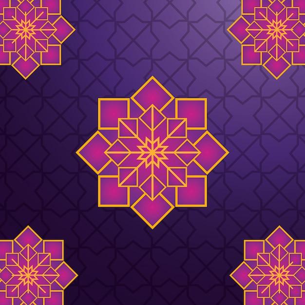 Арабский геометрический орнамент Premium векторы