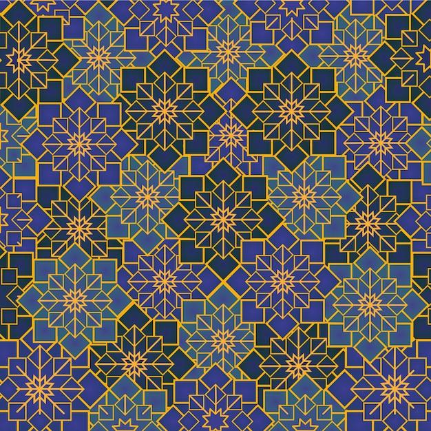 アラビアの幾何学的な飾り Premiumベクター