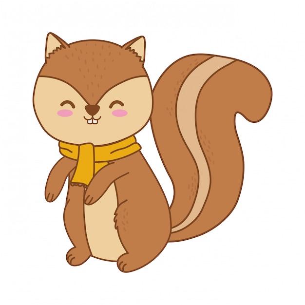 かわいい小さな動物漫画 Premiumベクター