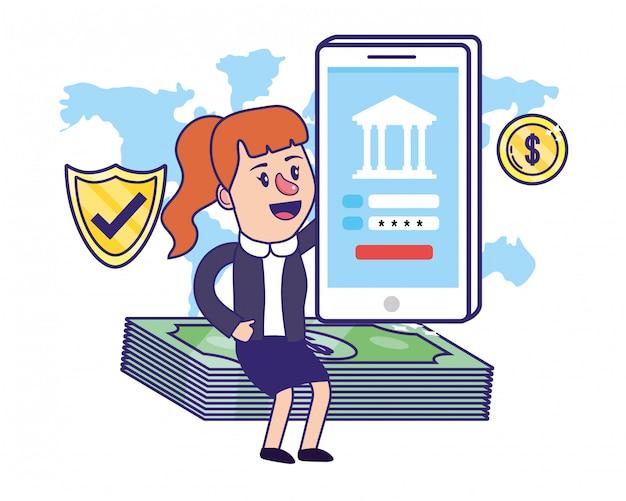 実業家銀行財務計画 Premiumベクター