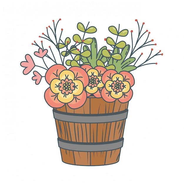 花の自然の花の漫画 無料ベクター