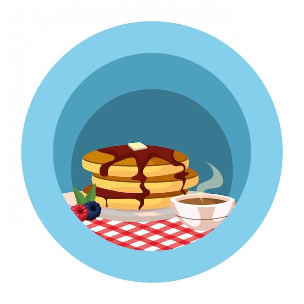 おいしいおいしい朝食漫画 Premiumベクター