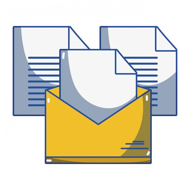 開いている漫画をメールで送信 Premiumベクター