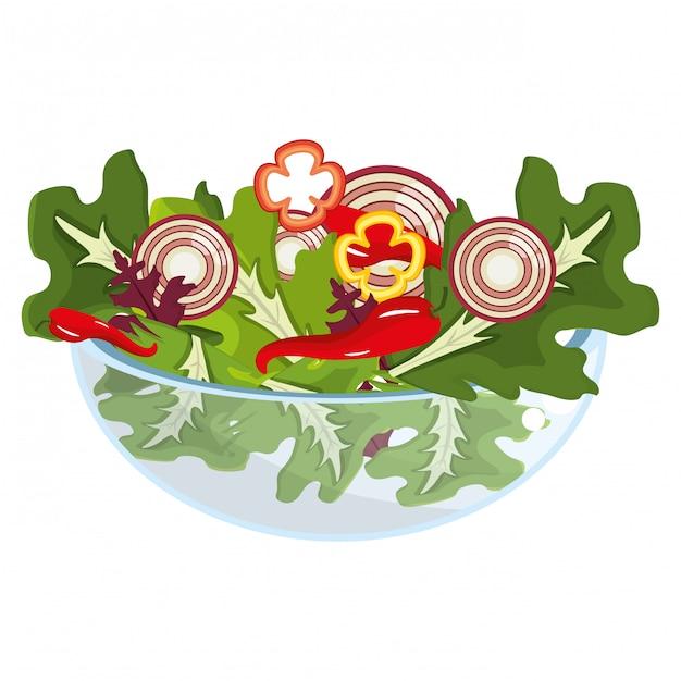野菜の健康的な食事 Premiumベクター