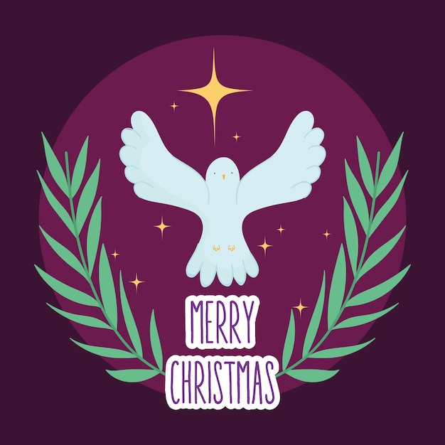 ピジョンゴールドスターマネージャーキリスト降誕、メリークリスマス Premiumベクター