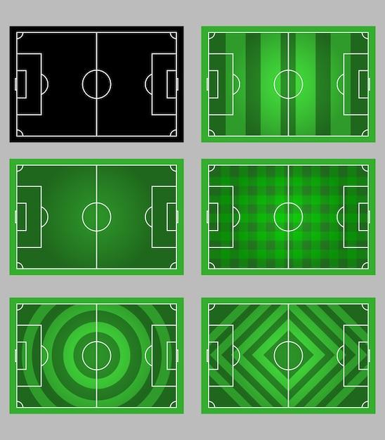 サッカーフィールドパターン要素グラフィック Premiumベクター