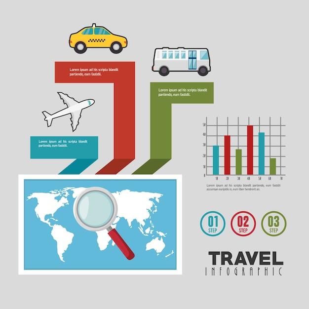 旅行インフラ設計 Premiumベクター