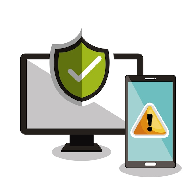技術の警告とチェックマーク Premiumベクター