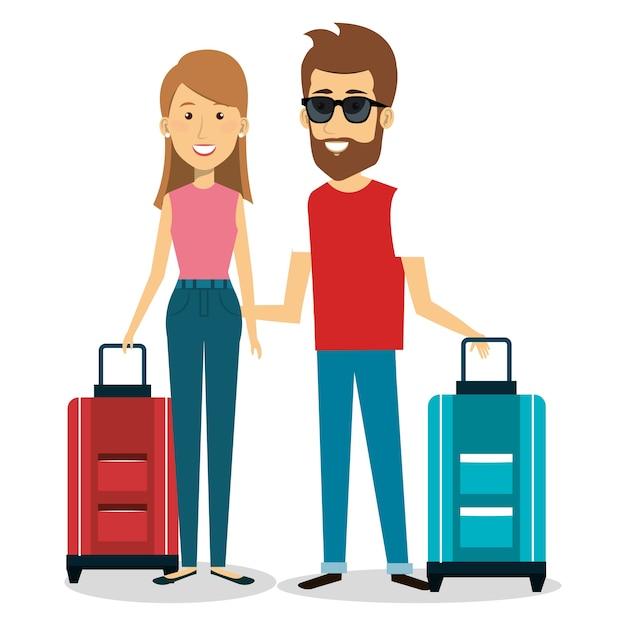 картинка человека с чемоданами исключительно чувствителен свету