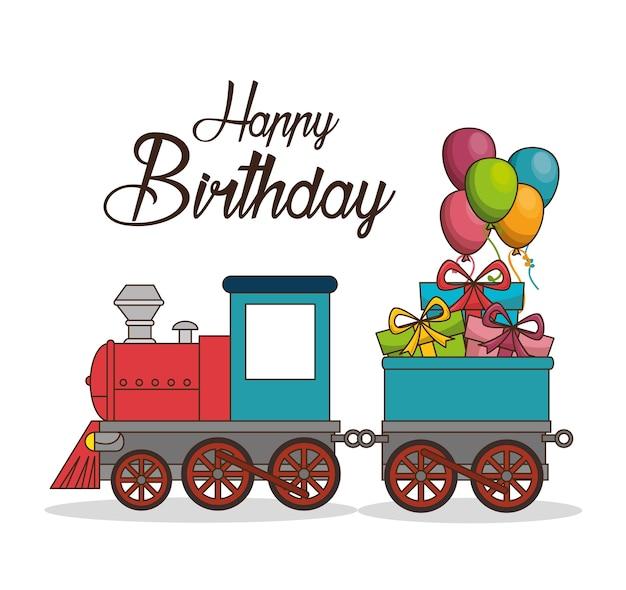 Картинки с днем рождения с поездом, цветаева
