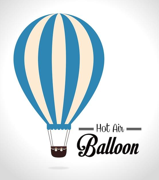 Дизайн воздушный шар на белом фоне Premium векторы