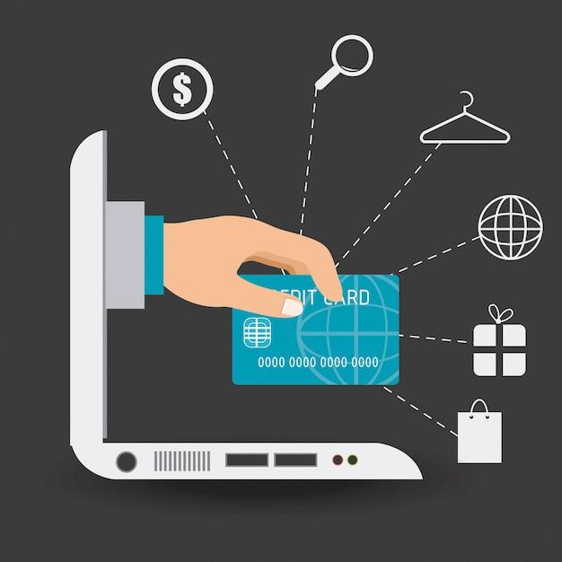 電子商取引の設計 Premiumベクター