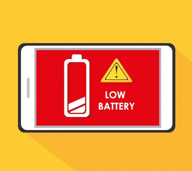 バッテリーの設計。 Premiumベクター