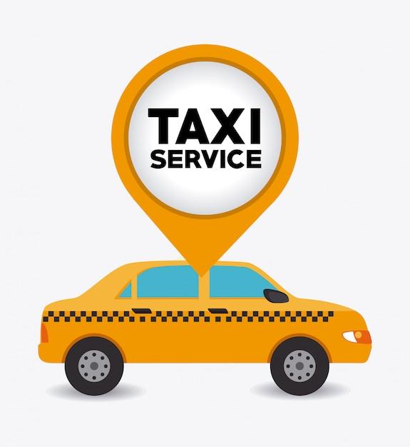 タクシーのデザイン。 Premiumベクター