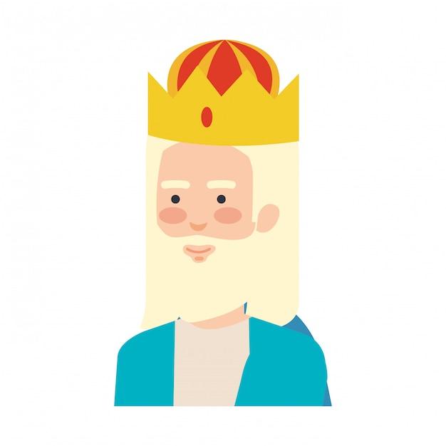 賢明な王の魔術師のキャラクター Premiumベクター