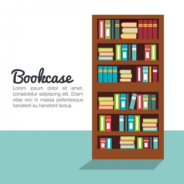 書棚の孤立したデザイン Premiumベクター