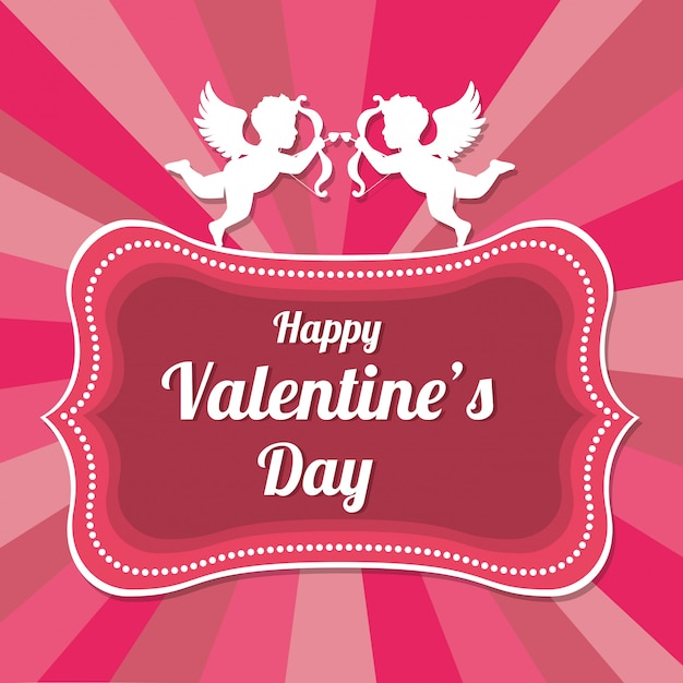 День святого валентина романтичный Premium векторы
