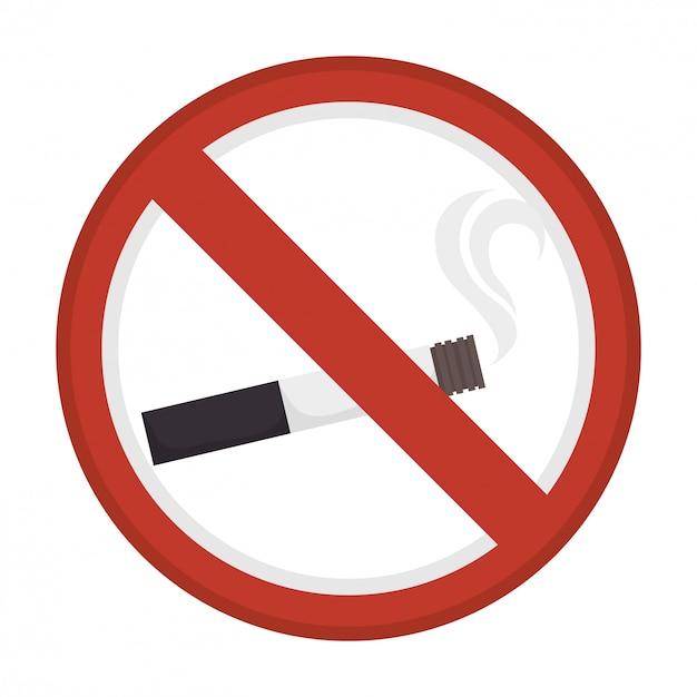 禁止されている煙の広告 Premiumベクター